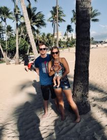 4 month update- family beach pic